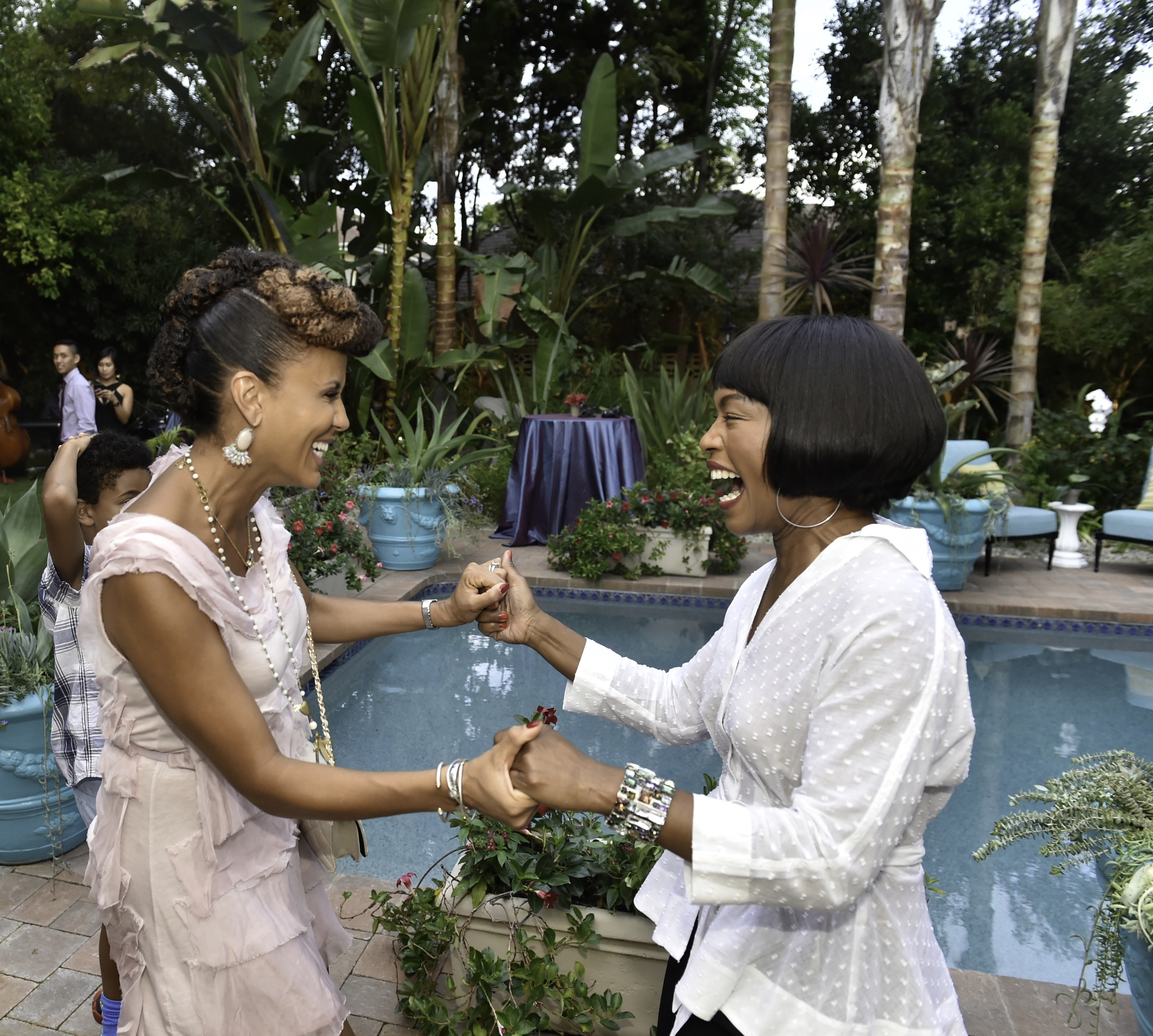 Caption: Actresses Nicole Ari Parker and Angela Bassett co-host the Kickstarter launch of FUTURE AMERICAN DREAM. Photographs by Ronald Pollard.