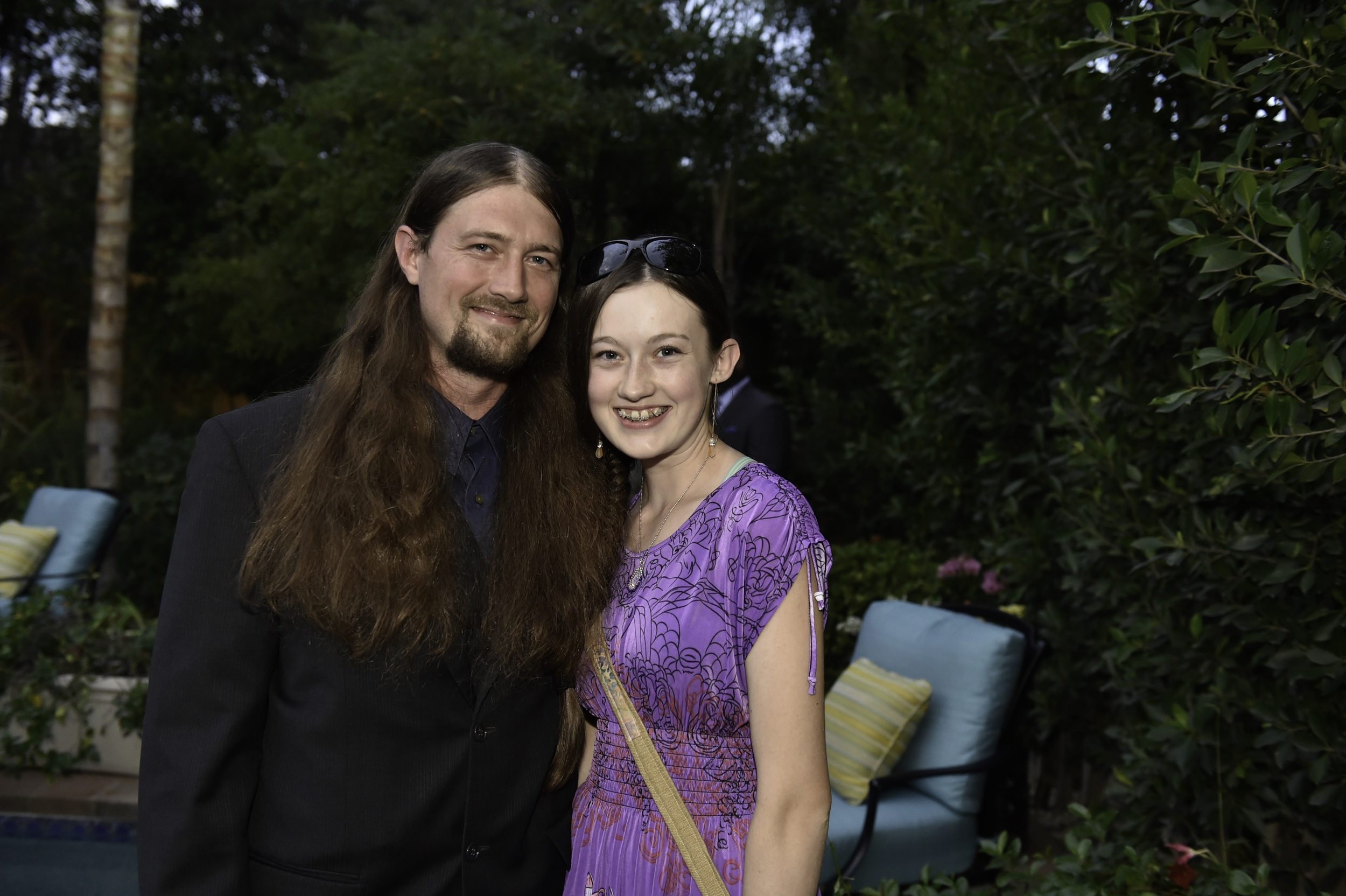 Caption: Oregon subject McKenna from Future American President with her father at the Kickstarter launch event for FUTURE AMERICAN DREAM. Photograph by Ronald Pollard.