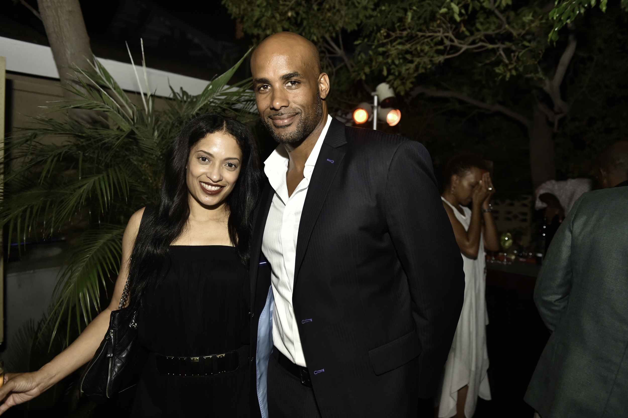 Caption: Actress Melissa De Sousa and Boris Kodjoe at the Kickstarter launch party for FUTURE AMERICAN DREAM. Photographs by Ron Pollard.