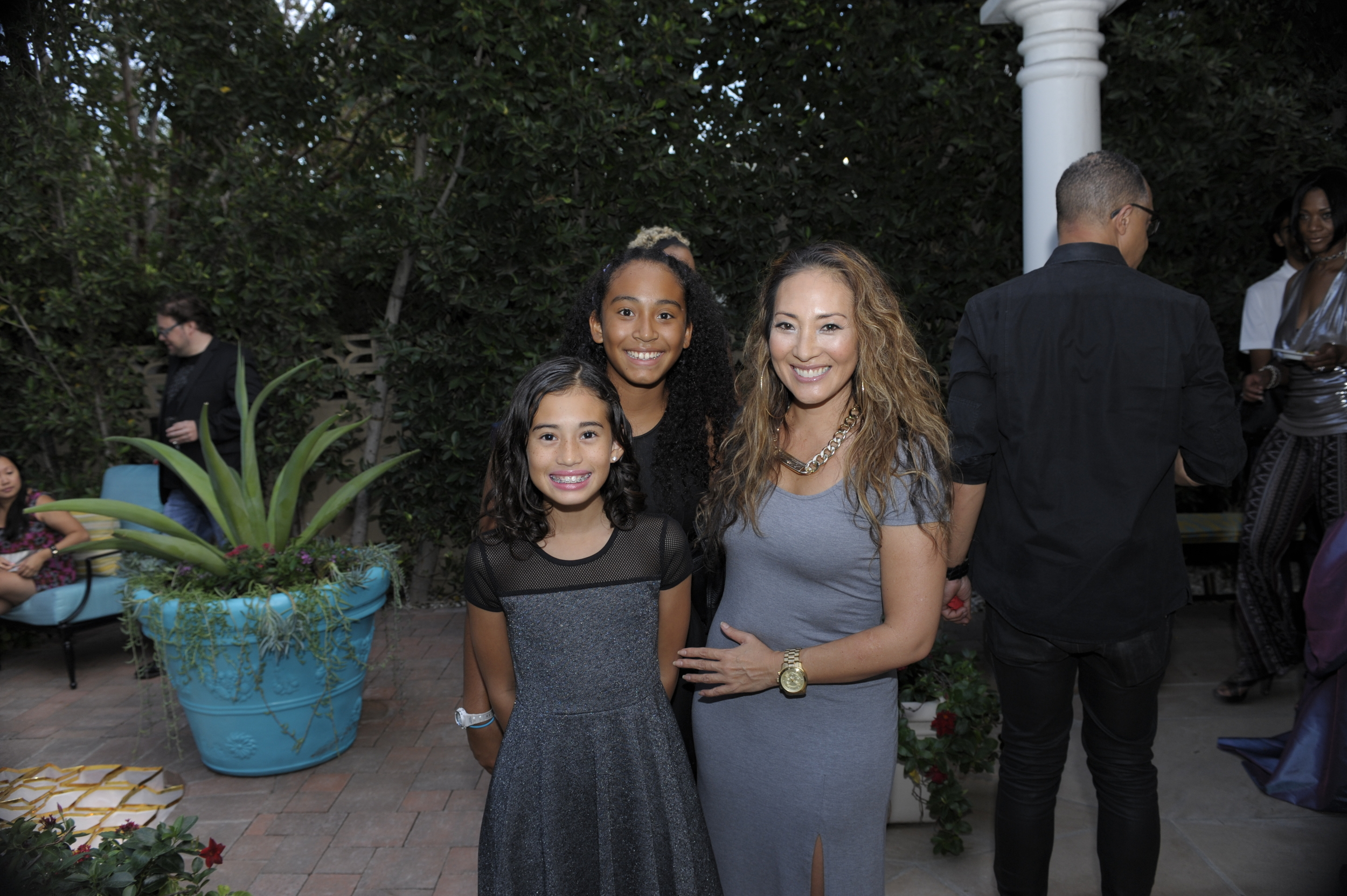 Caption: Future American President covergirl Sky with sister Raine and mother, Ami Torres. Photograph by George DeLoache