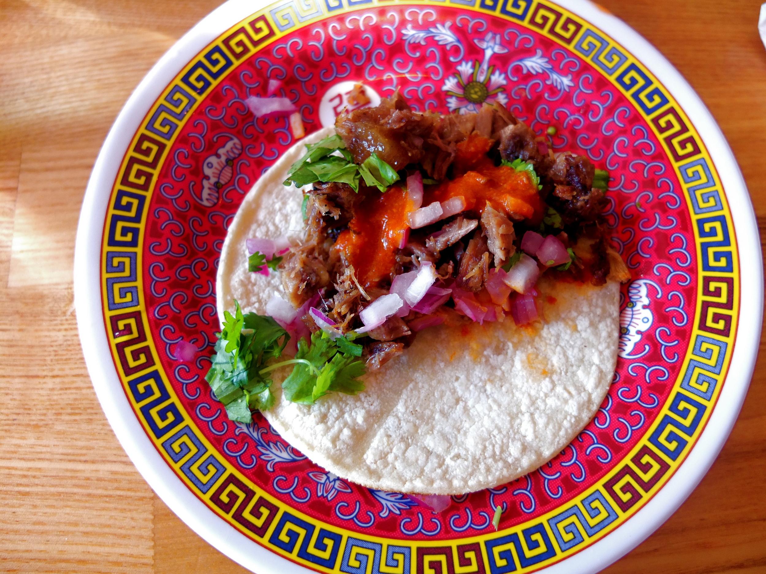 The Boston Globe, 5/14/13  Pho Beef Tacos  (Xoia, Los Angeles, California)