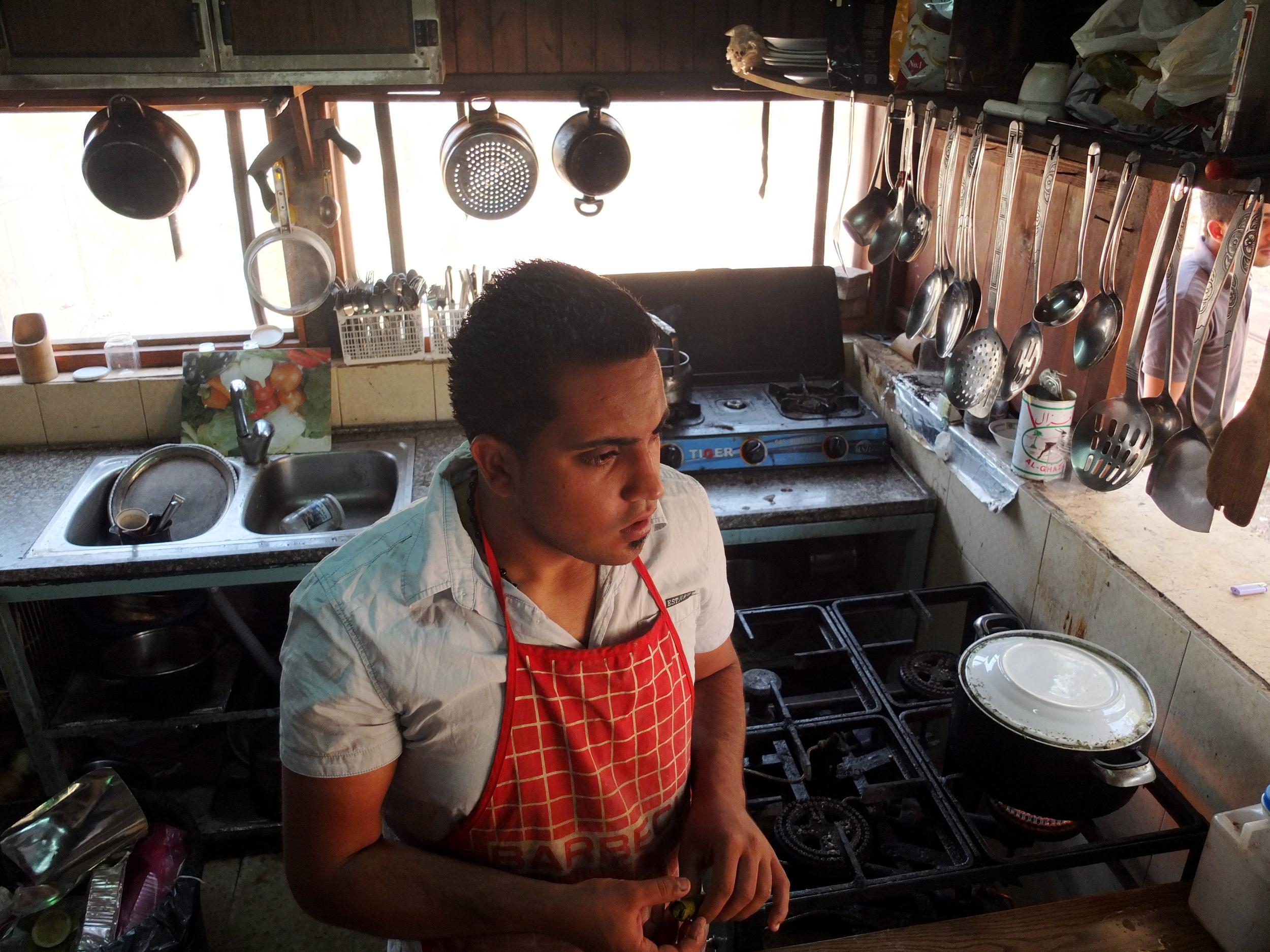 VICE Munchies, 7/16/14  Alaa Qassas  (Hosh Jasmin, Beit Jala, Palestine)