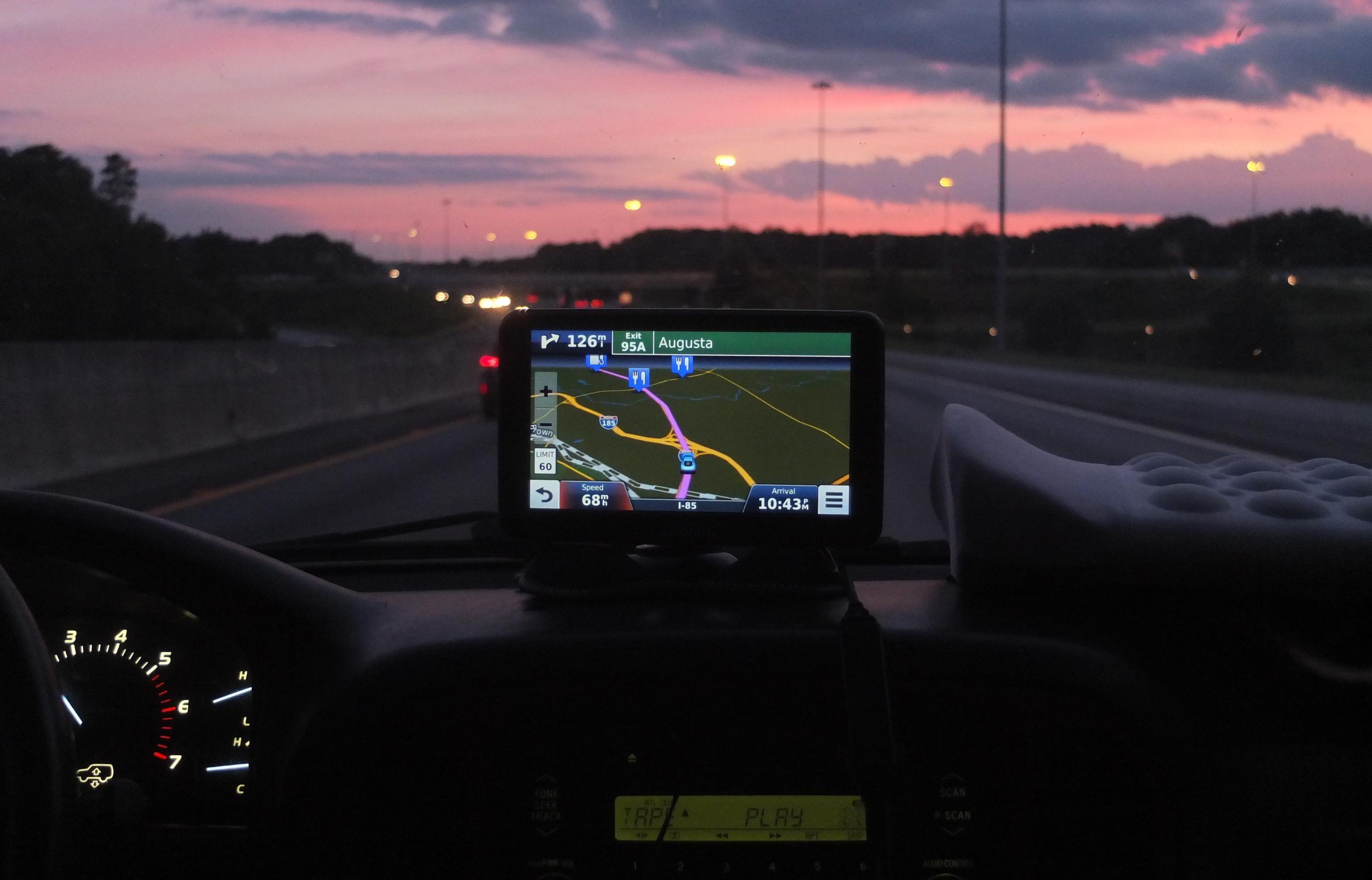 GPS  between Greenville, SC and Atlanta, GA  8/2015
