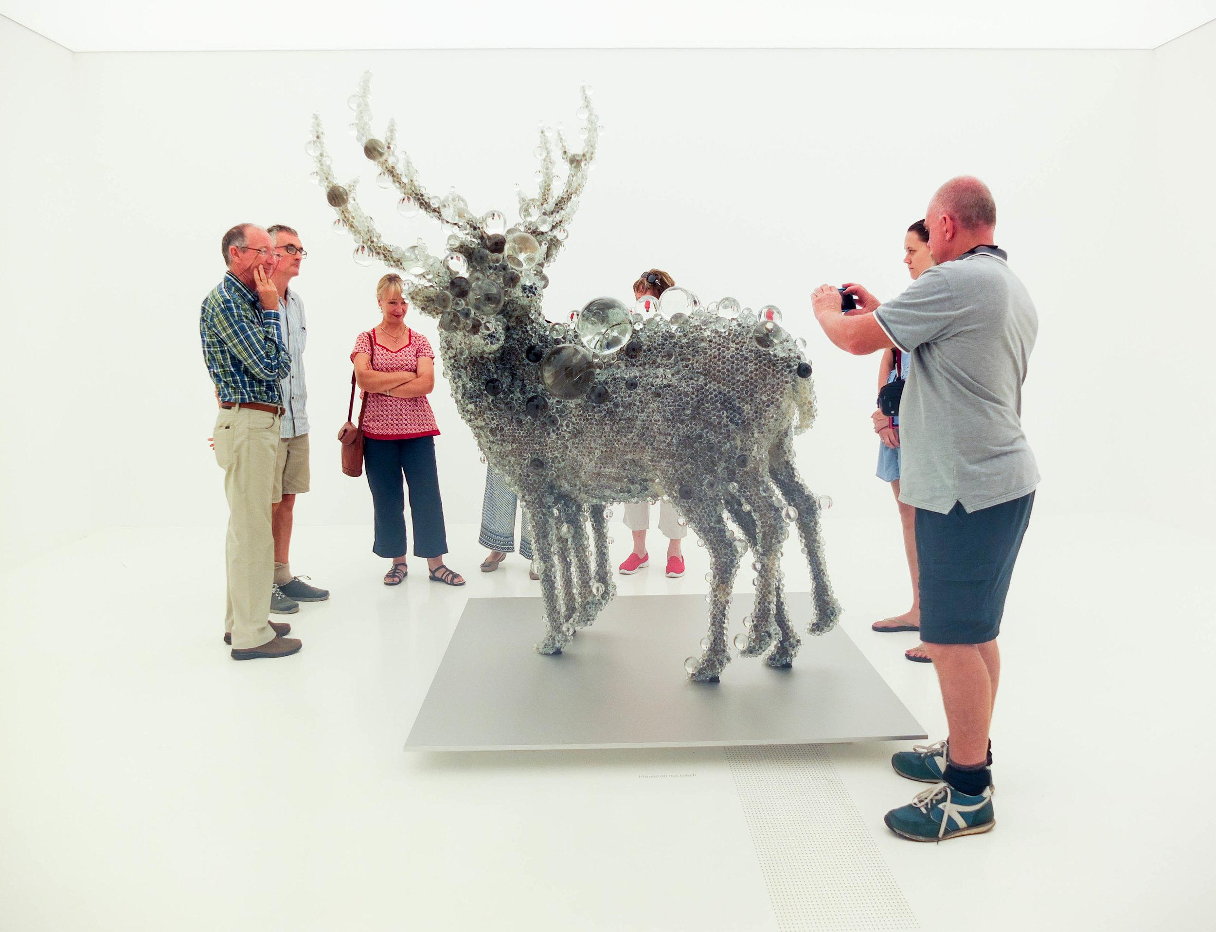Double Deer (Kohei Nawa) & Admirers