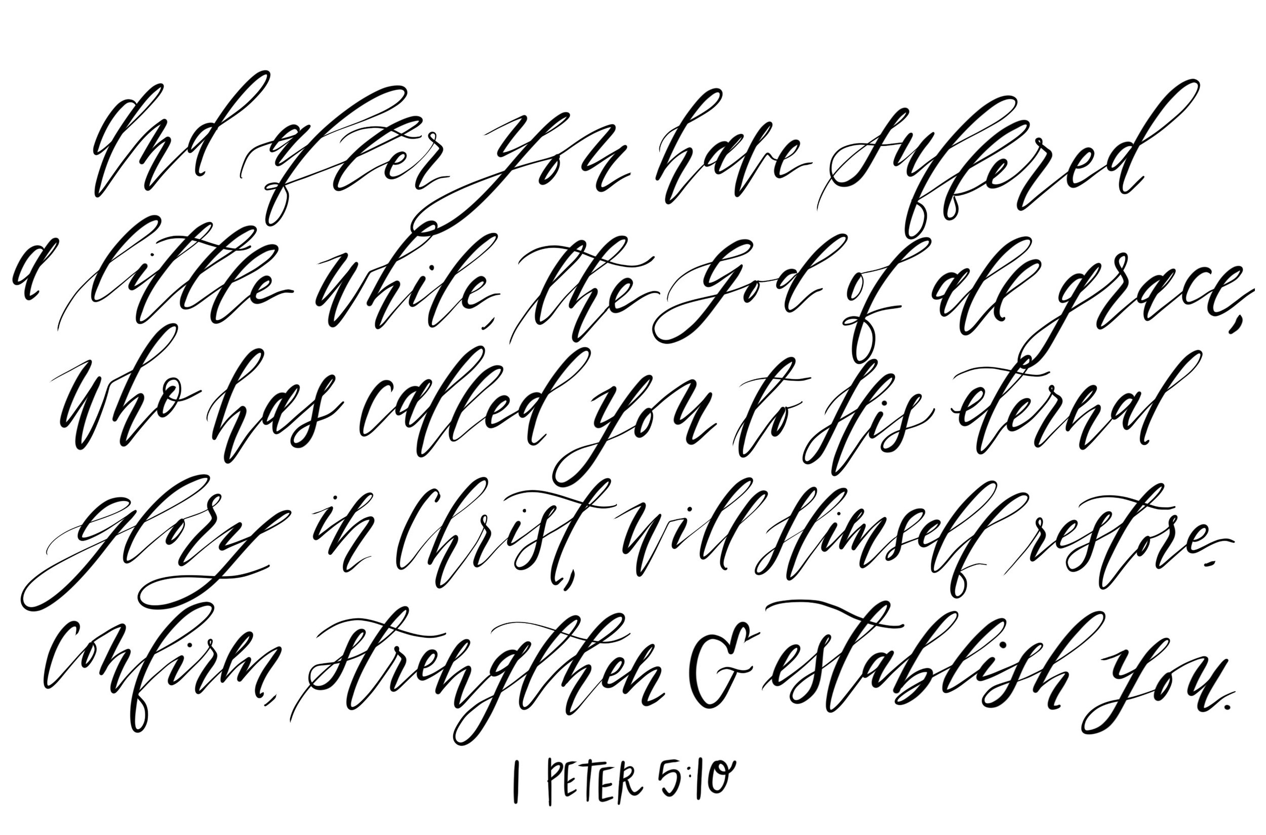 Connar Joy Calligraphy 1 Peter 5:10