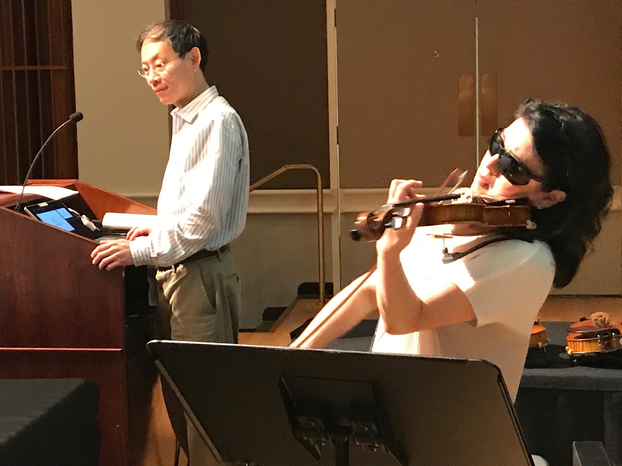 Violinist Kyoko Takezava and Fan Tao