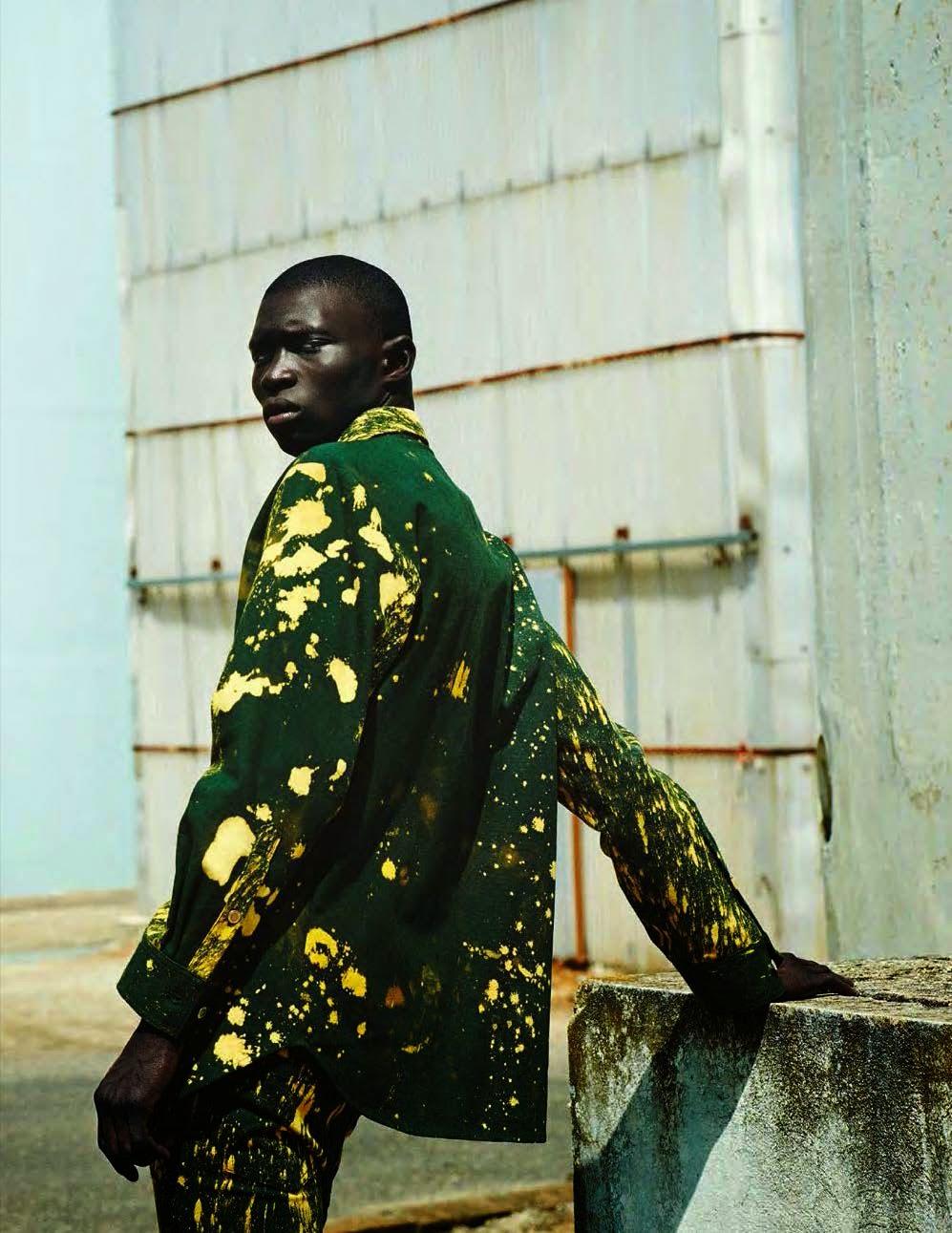 raf simons  x  ruby sterling  editorial // shot by julia non i  // styled by tobias frericks   // gq germany     fall 2014