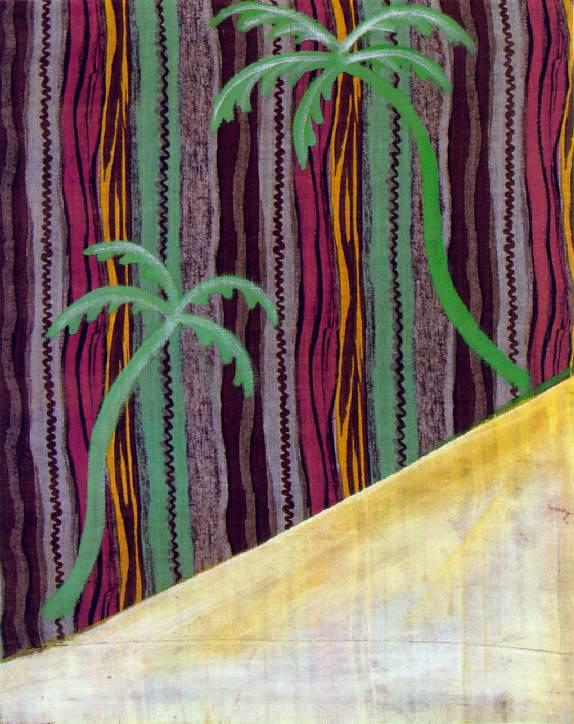sigmar polke //  two palm trees  // 1964