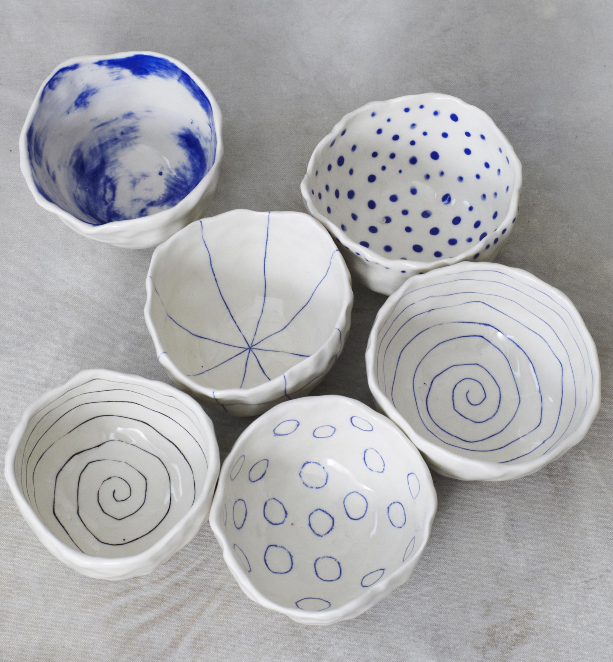 btw ceramics // pinch bowls