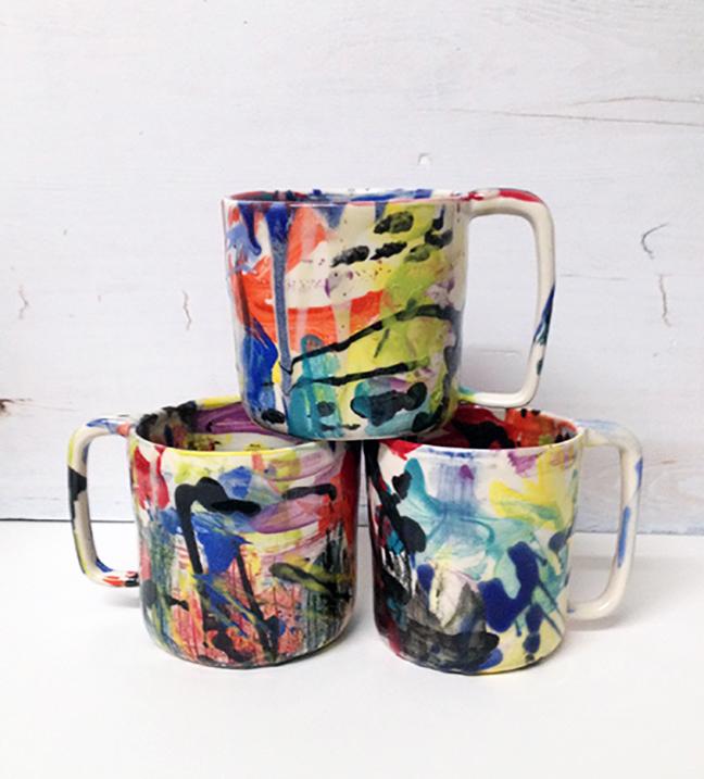 btw ceramics // wacky mugs