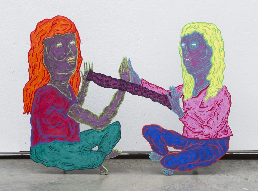 "jessica butler //  patti break  //2014 // acrylic paint on wood //63"" x 11.5"" x 48"""