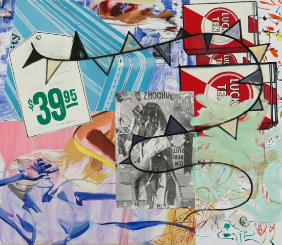 david salle // pay only $39.95 // 2014-2015 // oil, acrylic, crayon, archival digital print and pigment transfer on linen // 84 x 96 x 1.5 inches