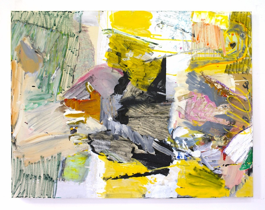 daniel herr // goodnight internet //  oil + chalk pastel on canvas // 48 x 60 inches // 2015
