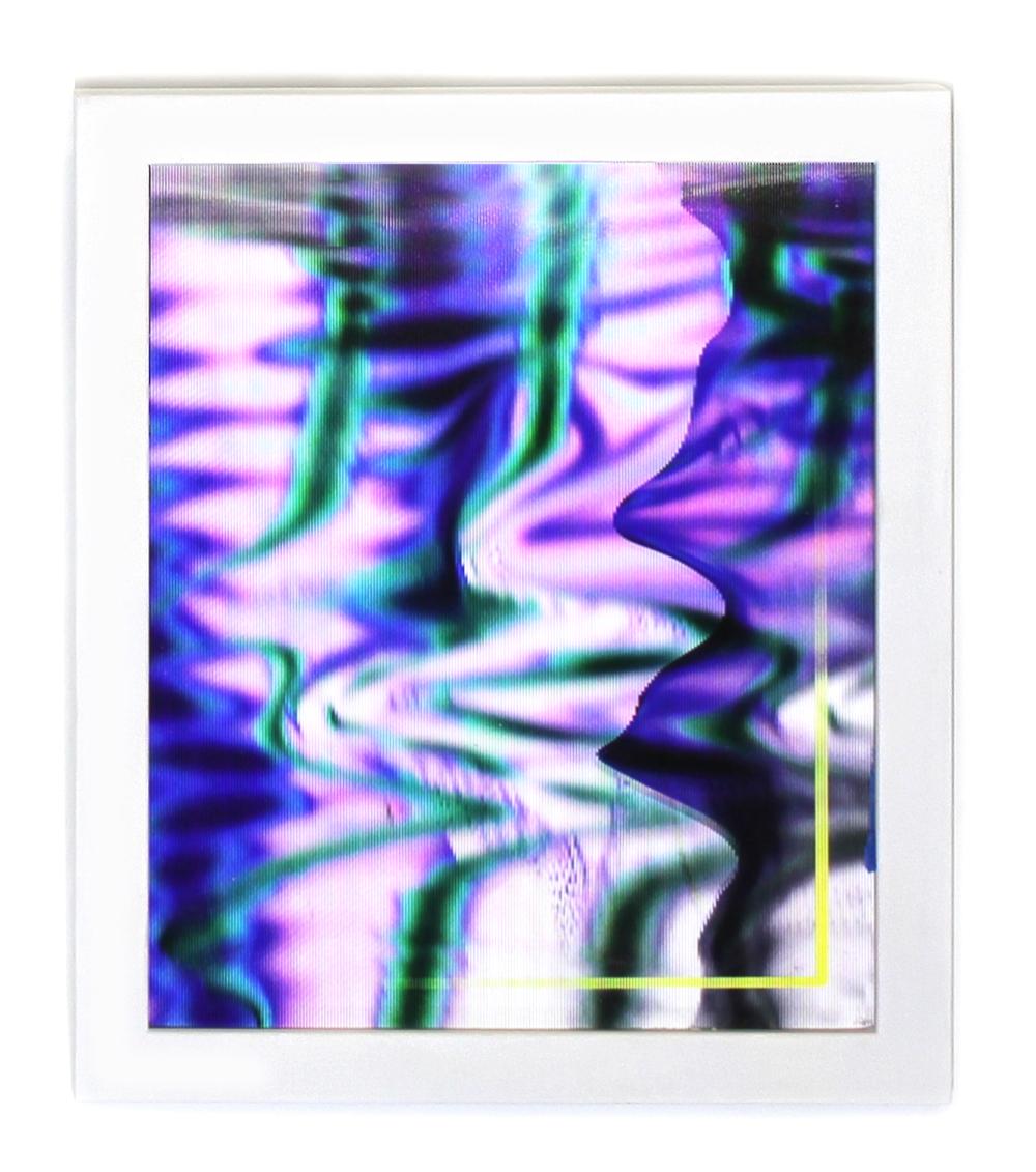 """anne vieux // screen view i //lenticular print //8"""" x 10"""" each //2015"""