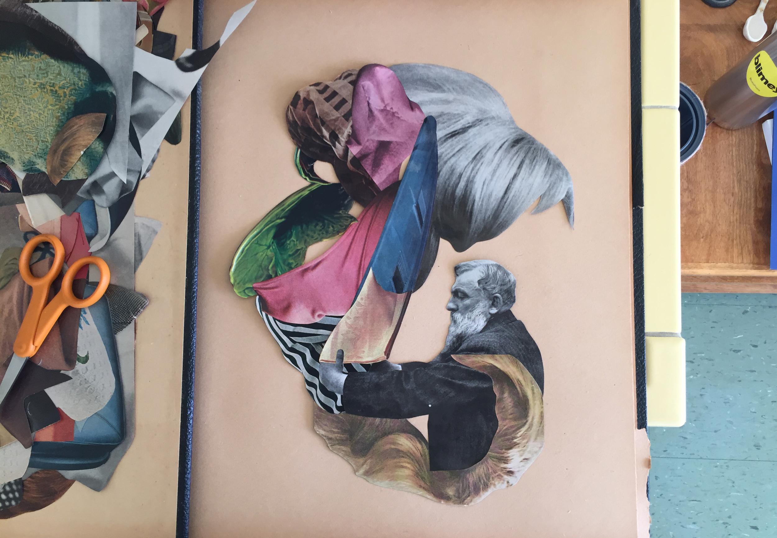michael desutter // work-in-progress // collage