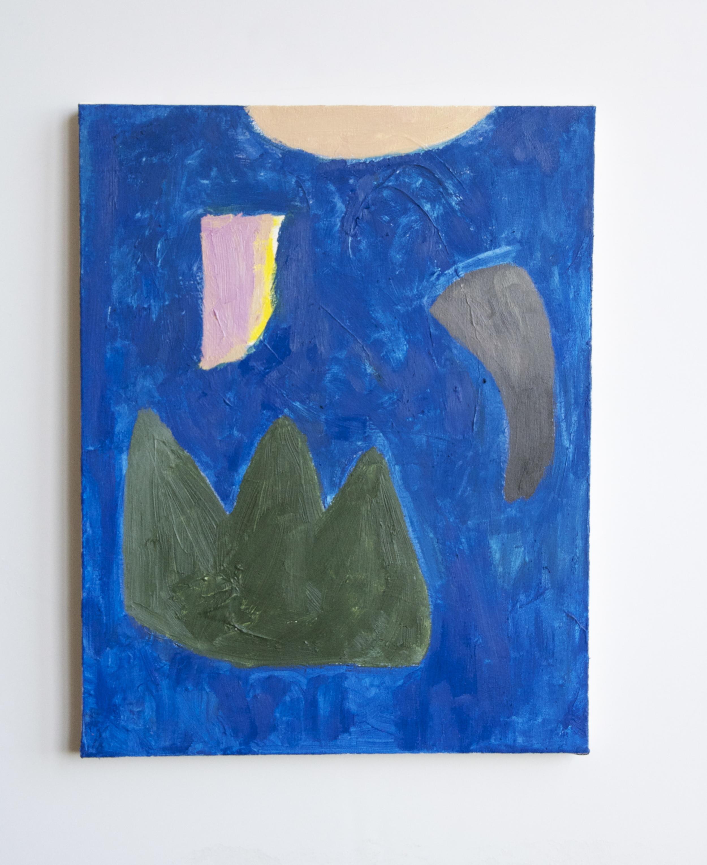 """naomi clark // blue // oil on canvas // 19"""" x 24""""// 2015"""
