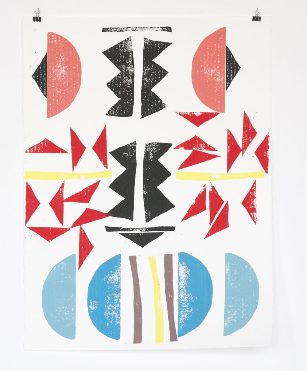 "naomi clark // canopy // monoprint // 20"" x 30""//2015"