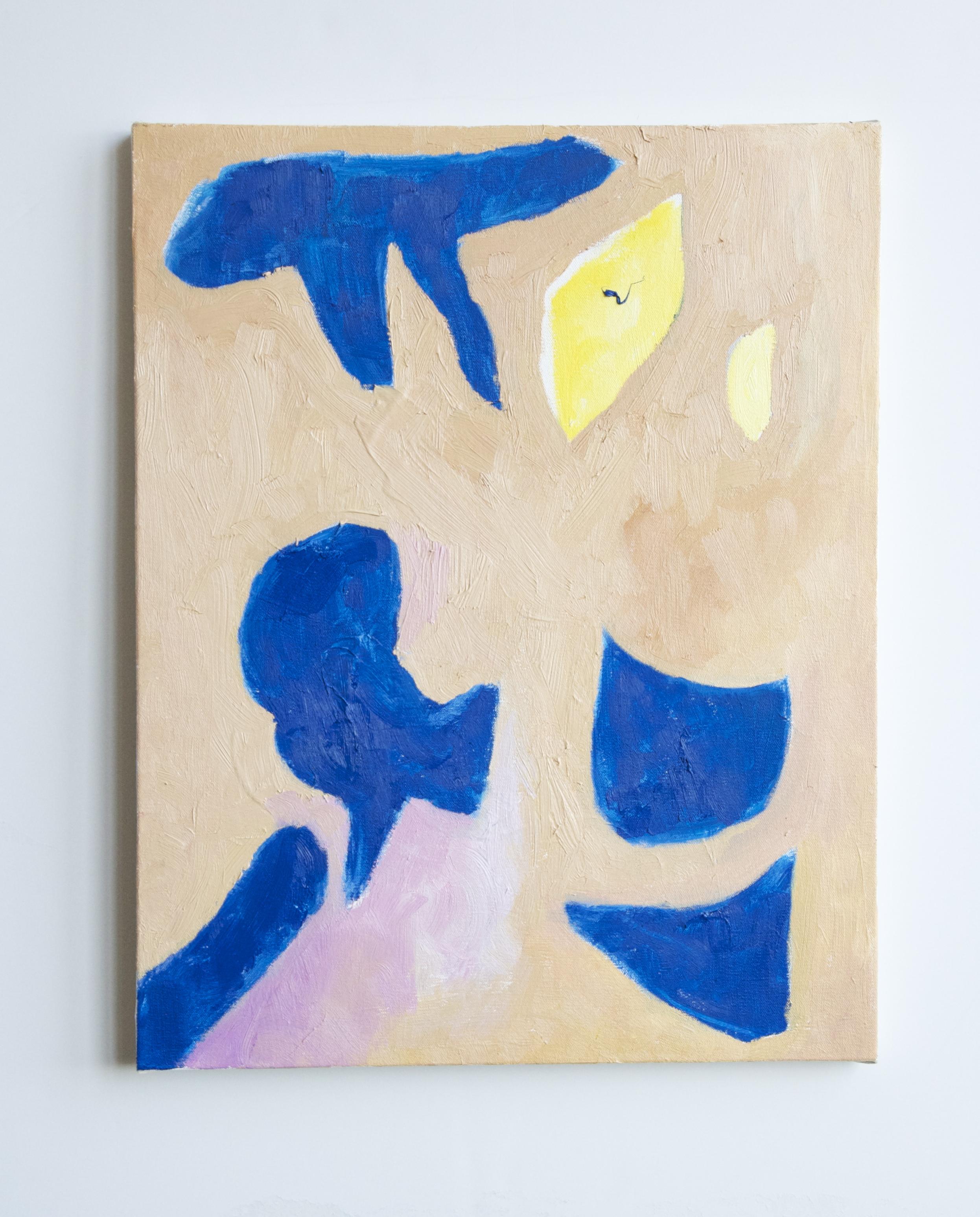 """naomi clark // peach moves // oil on canvas // 19"""" x 24"""" // 2015"""