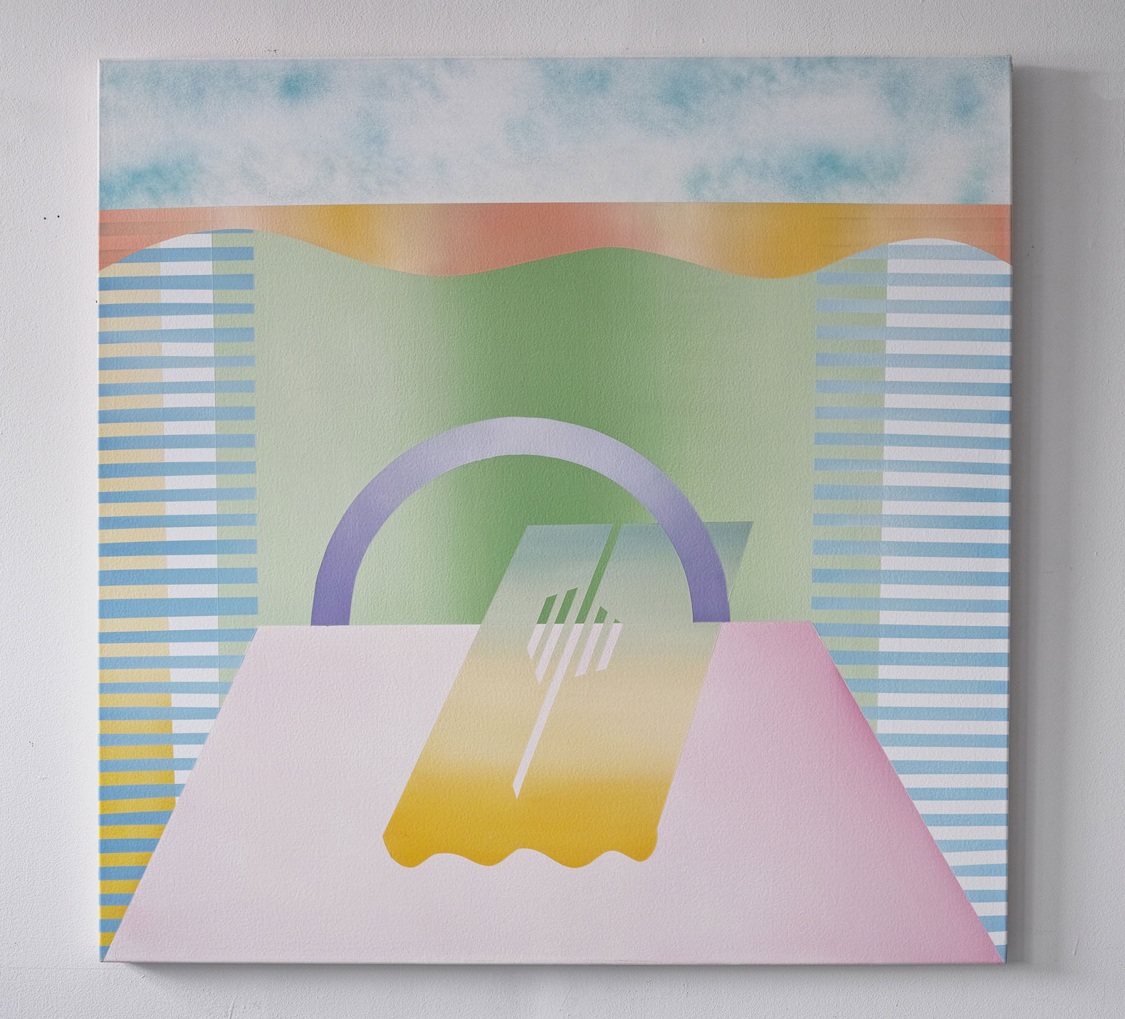gregory c. brunet // sunshine lollipop // oil on canvas // 121.92 x 121.92cm // 2015