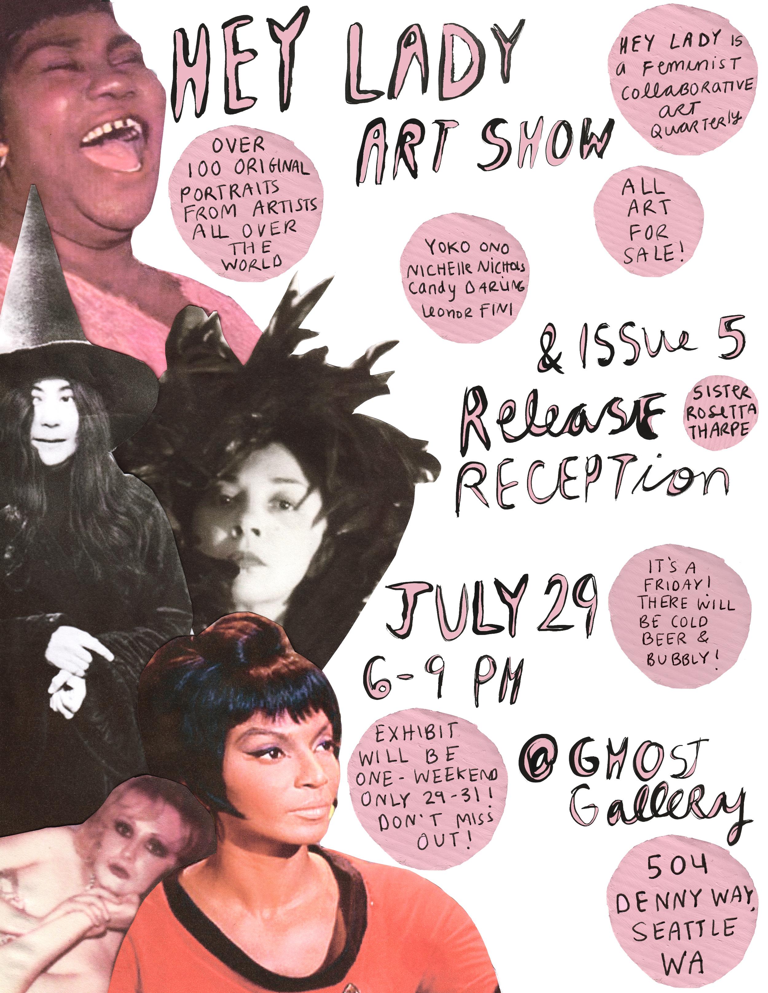 hey lady art show // july 29-31 // ghost gallery in seattle, washington