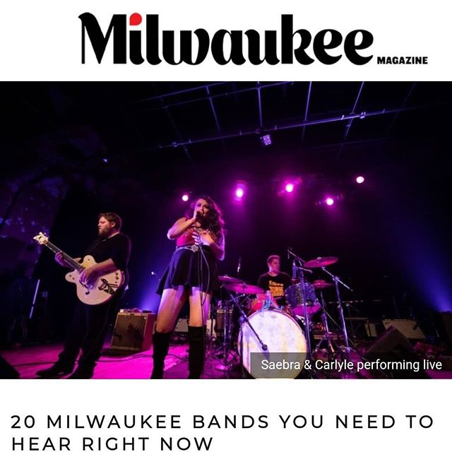 Thank you @milwaukeemag for ranking us as a band to check out in #Milwaukee! We're thrilled to be on the list with so many other great acts. Check out the article here:  https://www.milwaukeemag.com/milwaukee-bands-you-need-to-hear-right-now/
