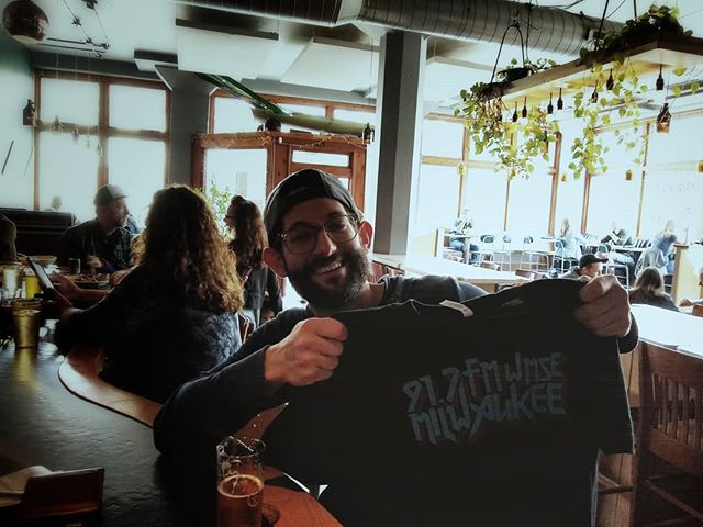 Don't forget to pick up your sweet @wmsemke shirt at @companybrewing! Get a free SMaSH ale for saving the postage! #mke #wmse #freebeer #loveandradio