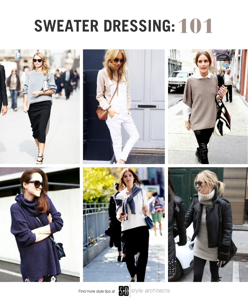 Sweater Dressing 101  -  via Style-Architects