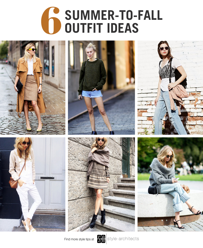 6 Summer to Fall Outfit Ideas  -  via Style-Architects