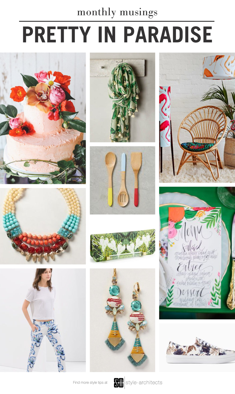 Monthly Musing: Pretty in Paradise via Style-Architects