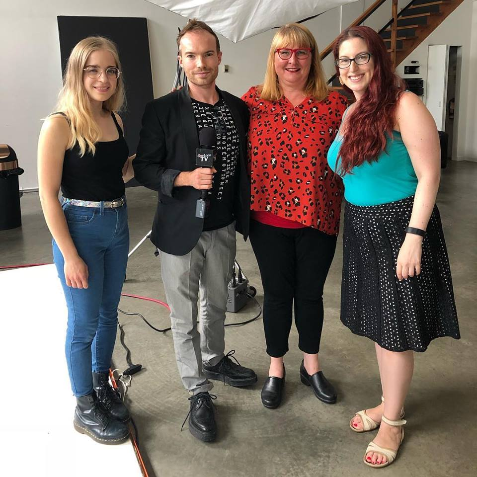 with the Pi Theatre's cast of HIR by Taylor Mac. July 2018 - Vancouver, BC