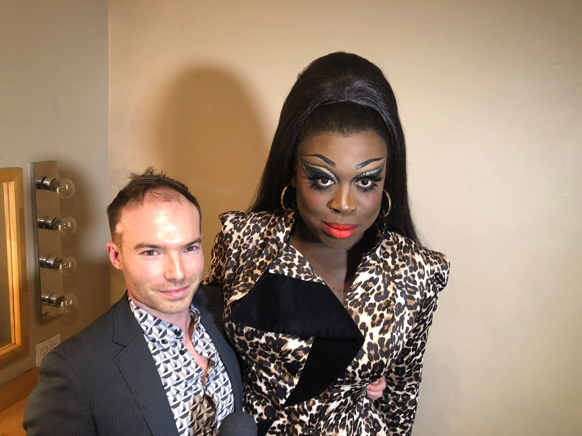 With RuPaul's Drag race Season 8winner  Bob the Dragqueen  on OutlookTV, November 2018