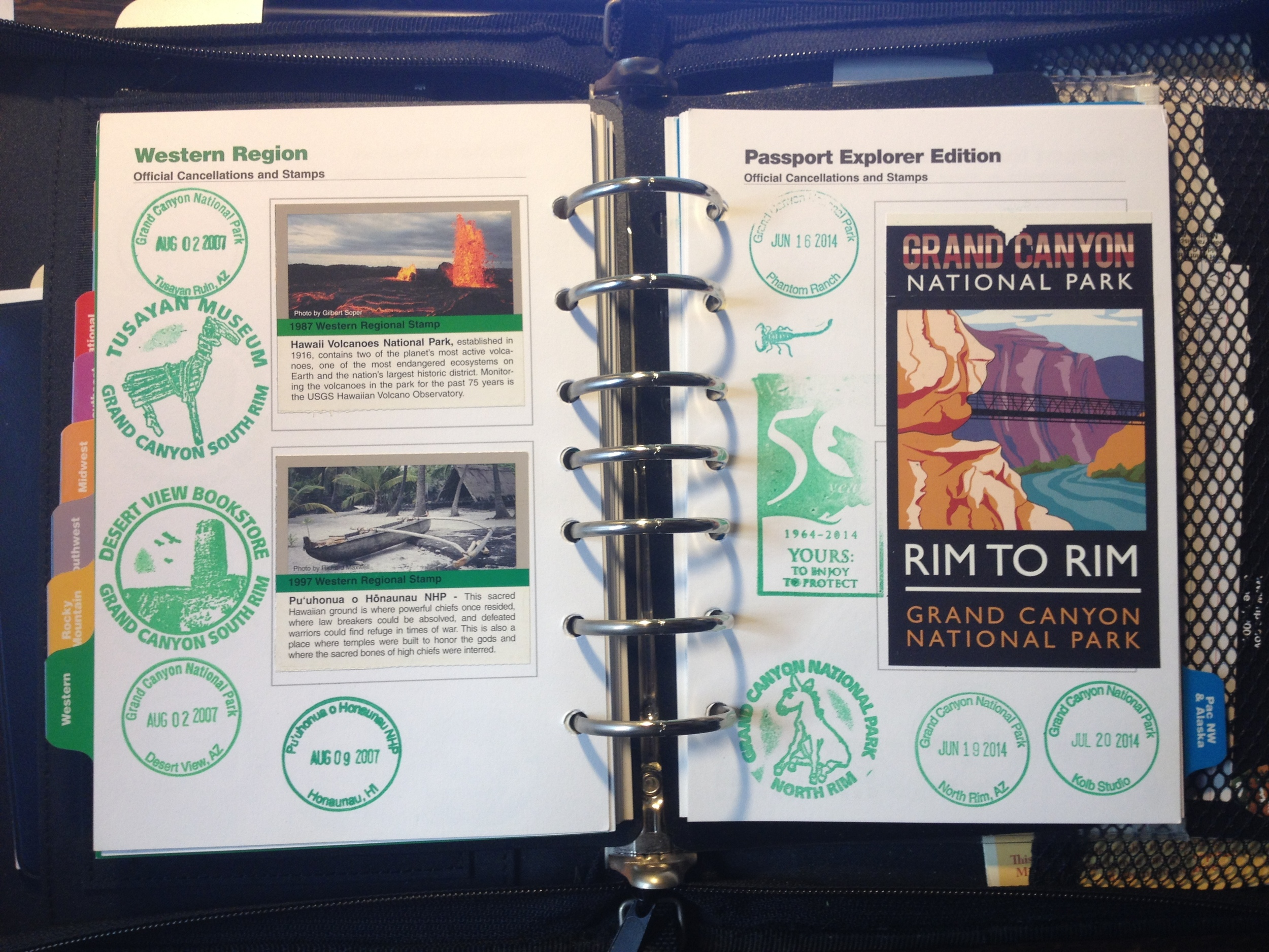 An example of National Park stamps and park passport.