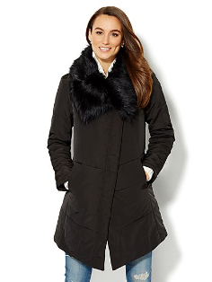New York & Co  | Faux Fur Collar Puffer Coat | $49 ($149)