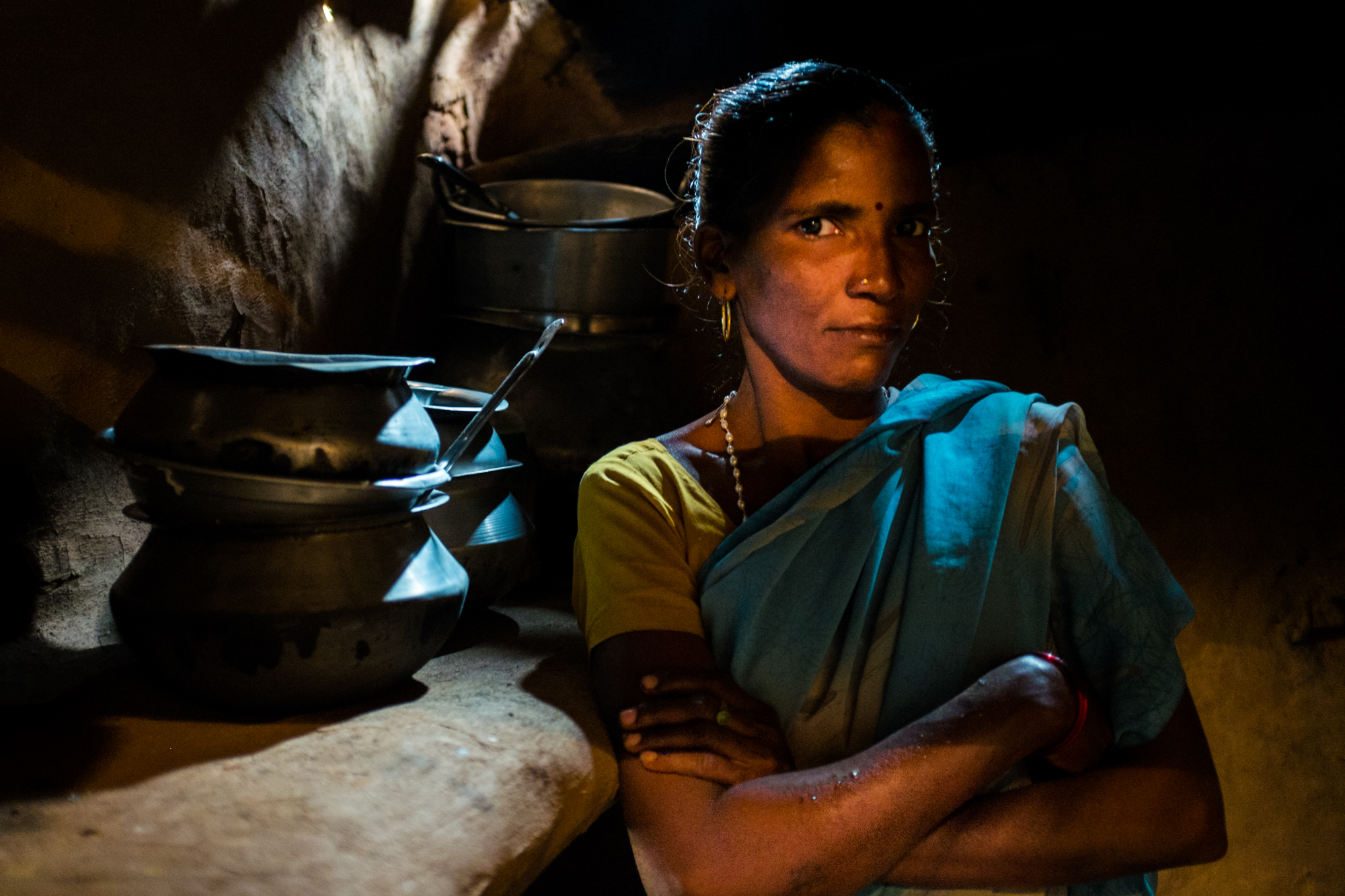 Dunna Laksmi, 40 a rice farmer and widow of CKDnT in Balliputuga, AP, India.