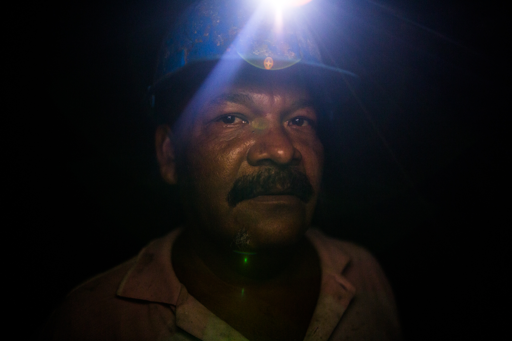 Daniel Ortiz, 48, from Cordoba, Colombia was unemployed on the coast and came to Mina Walter looking for a job. Since May 2016, he has been working to remove stones from the earth. Mina Walter South Bolivar, Colombia. May 12, 2017