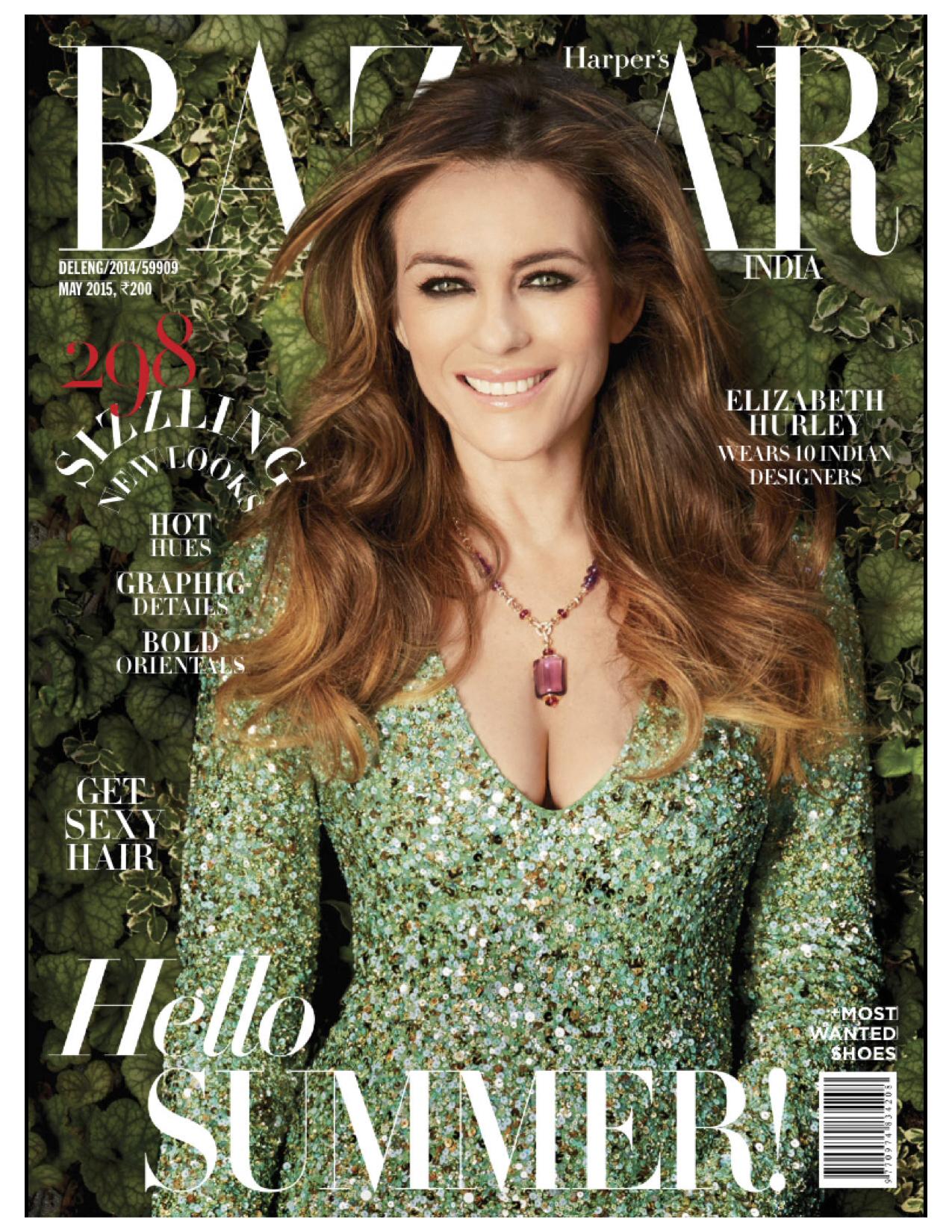 Elizabeth Hurley for Harper's Bazaar - May 2015