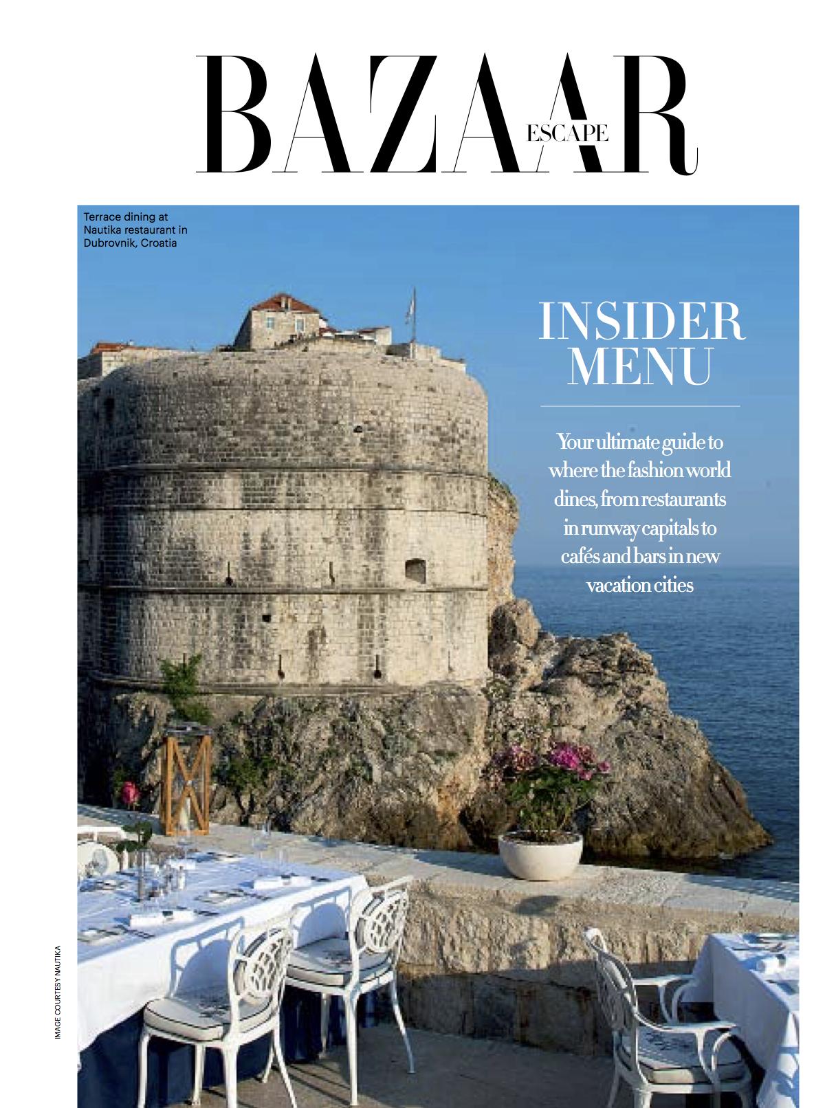 Harper's Bazaar Escape