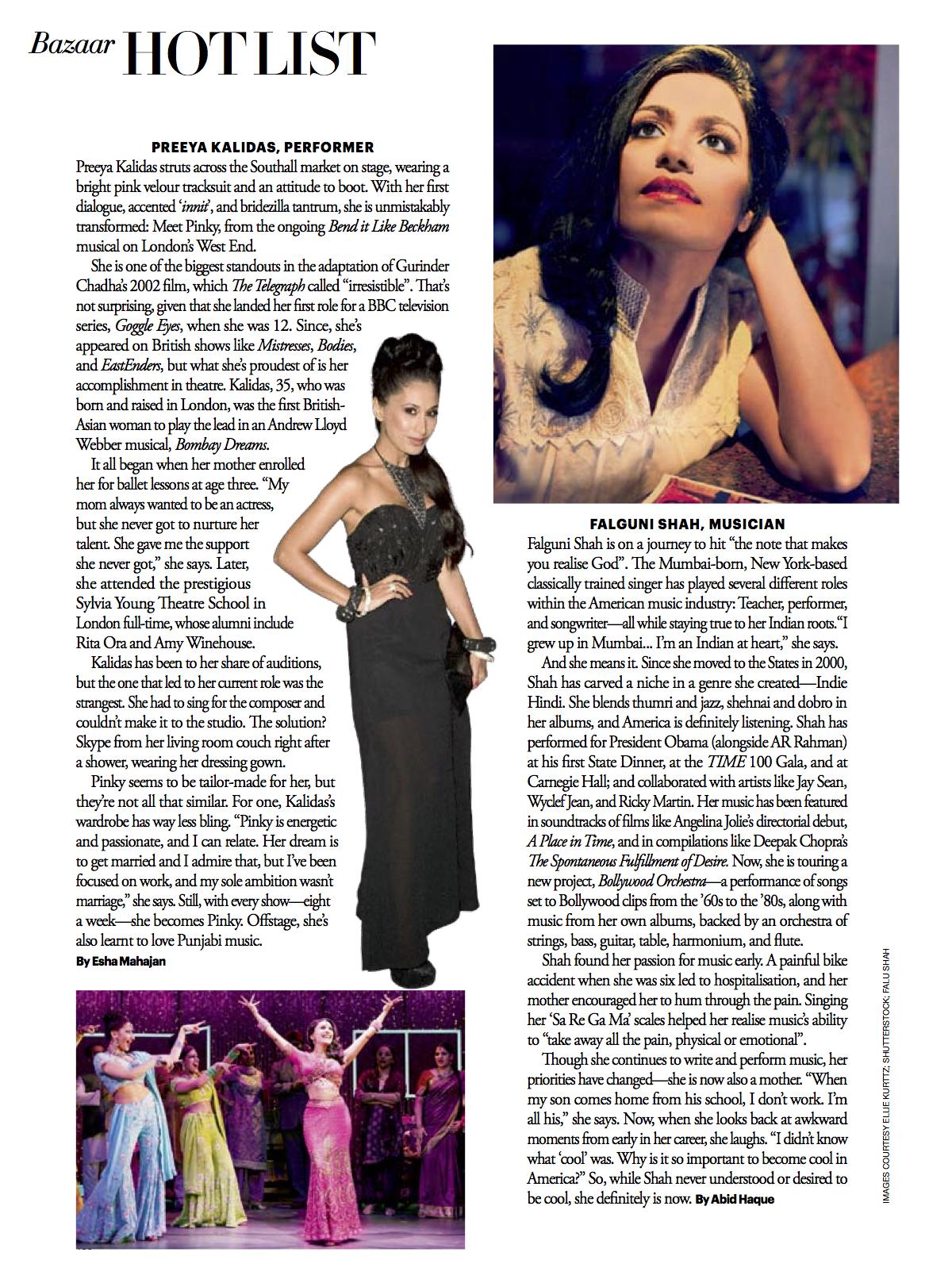 Falu Shah for Harper's Bazaar India
