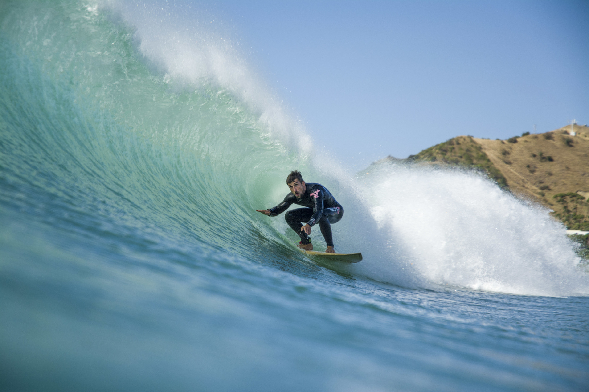 Bonzer wooden surfboard