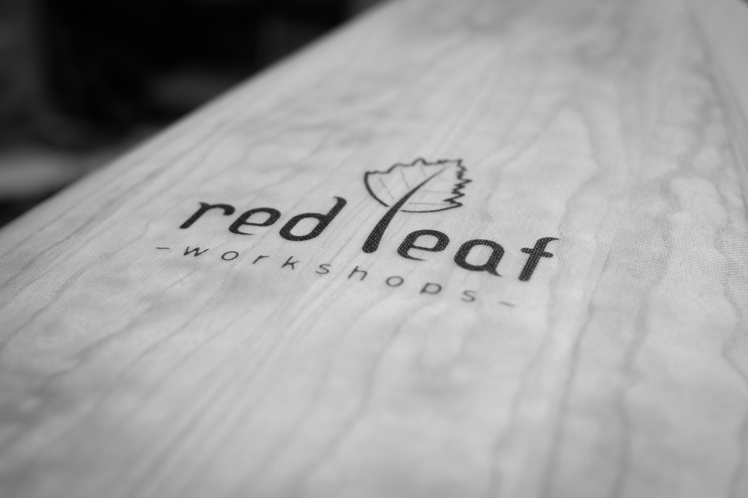 Red Leaf Workshops wooden surfboard