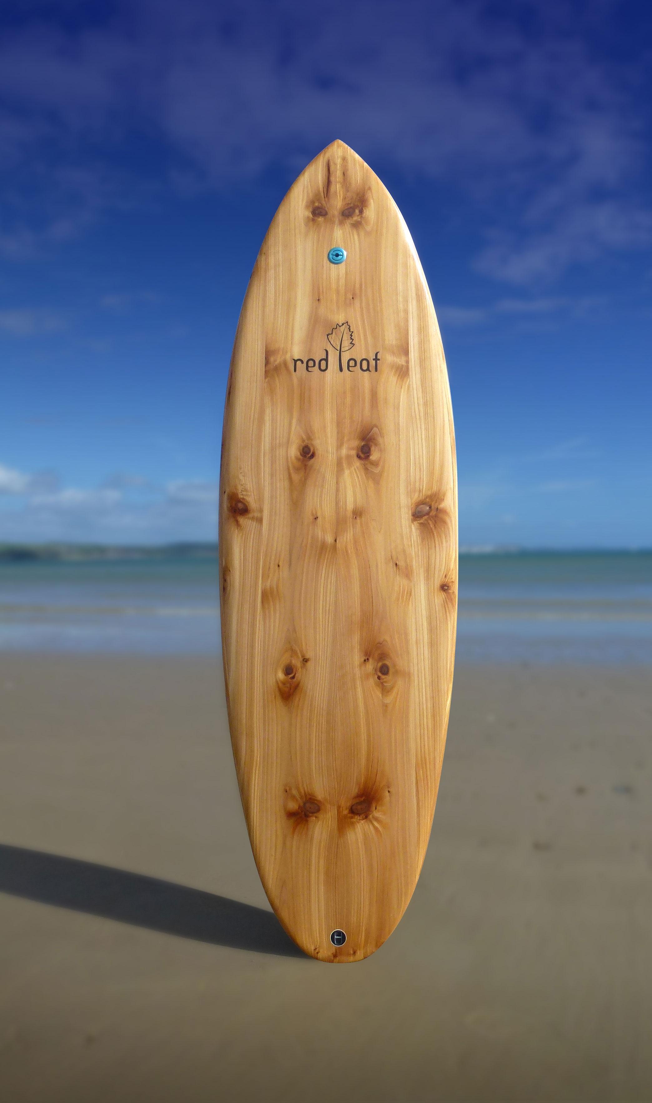 baked bean wooden surfboard