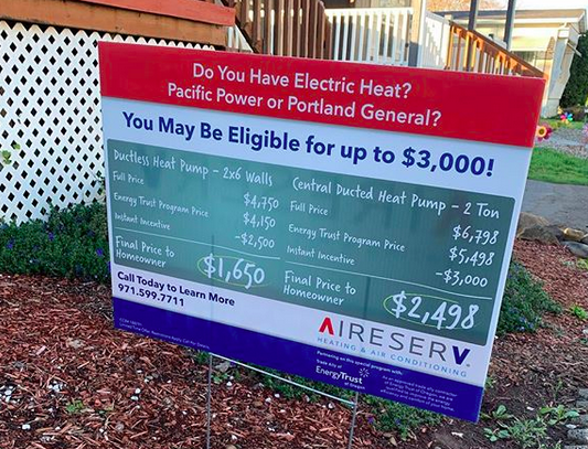 A great sign posted here in Silverton to show the way you may be able to save with home costs and live more energy efficiently.