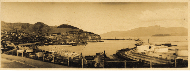 View looking east, c. 1960