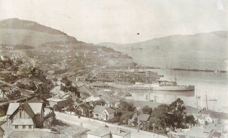 View looking east, 1910