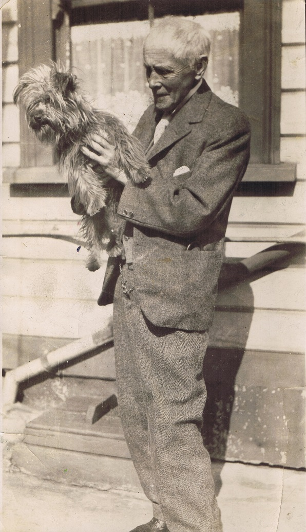 Dr Upham with his dog Billy