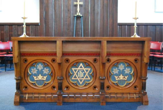 The altar formerly in Holy Trinity, now installed in St Saviour's at Holy Trinity.