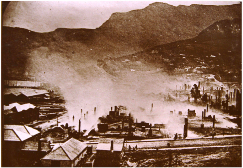 An image following the fire in 1870. Source:  www.flickr.com