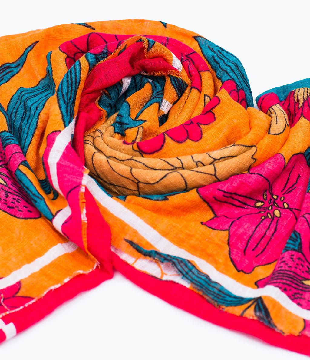 Floral Print Scarf, $29.90