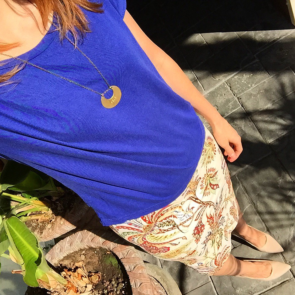 Monday blue & paisley