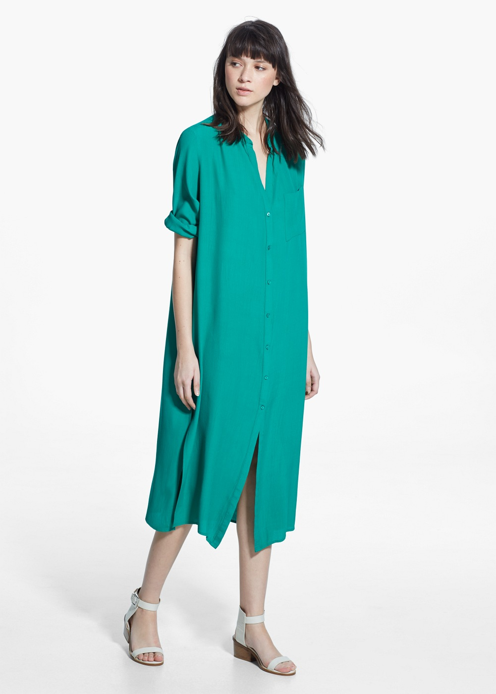 Pocket Shirt Dress , $79.99